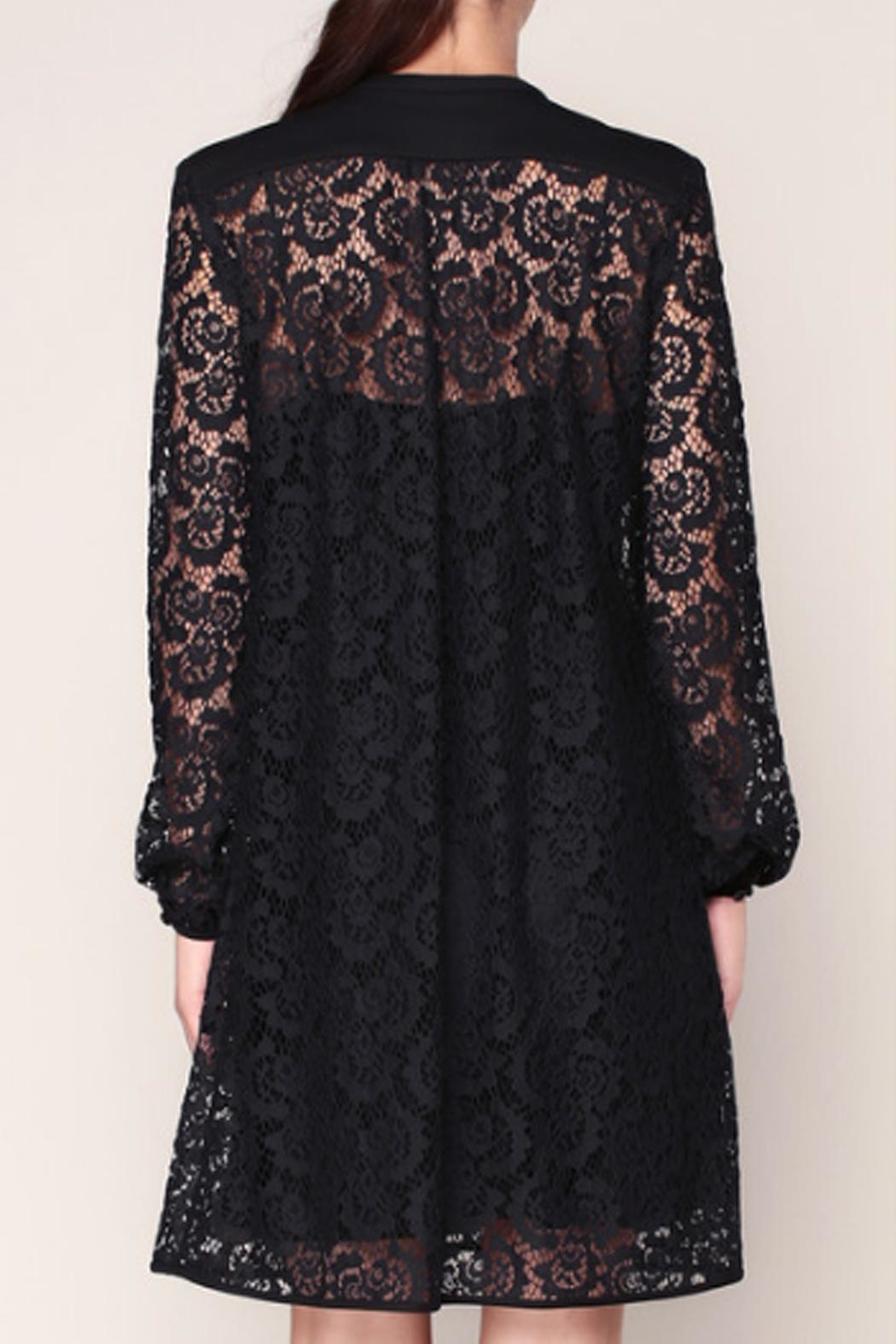 Sonia by Sonia Rykiel Black Lace Dress - Side Cropped Image