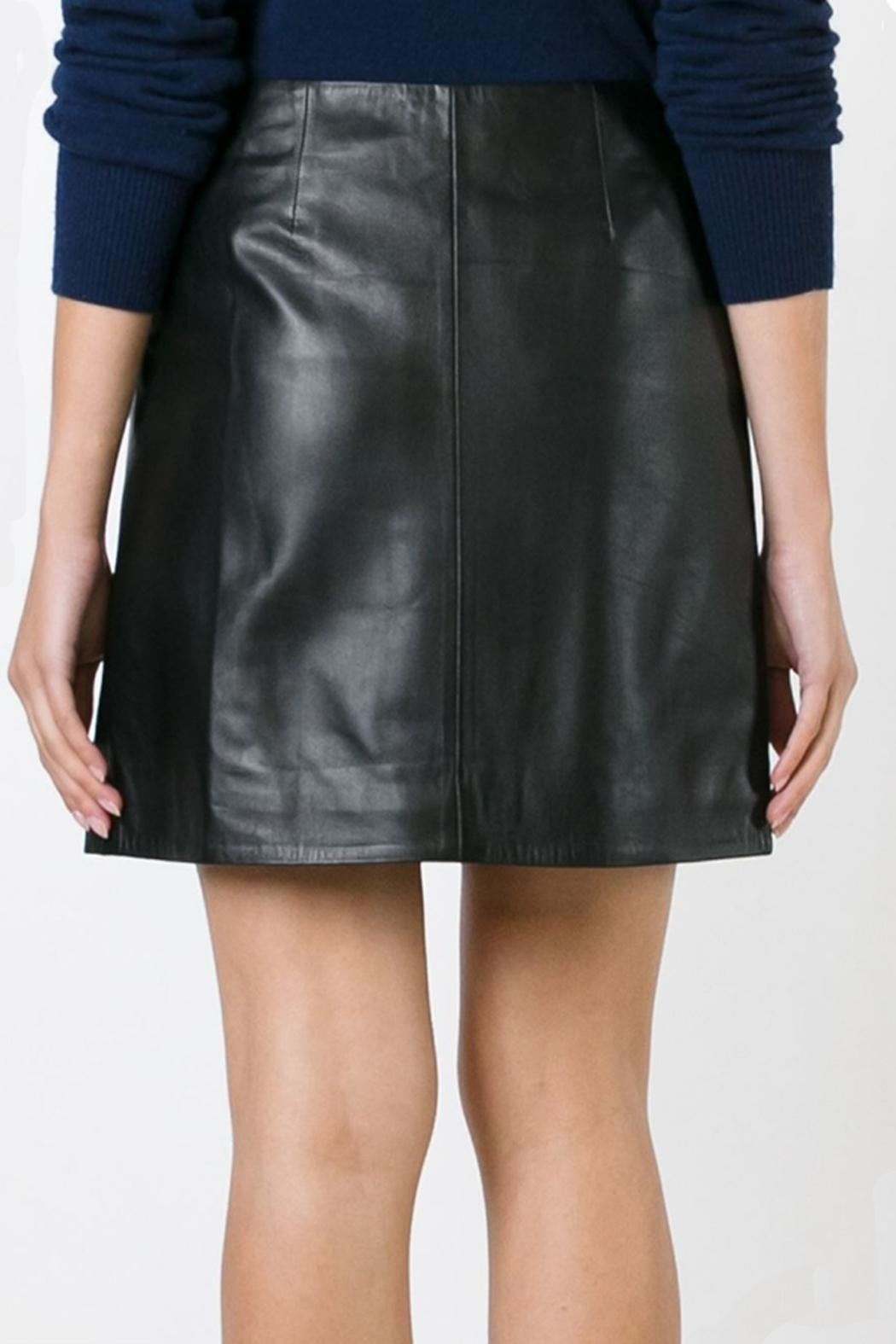 Sonia by Sonia Rykiel Soft Leather Skirt - Side Cropped Image