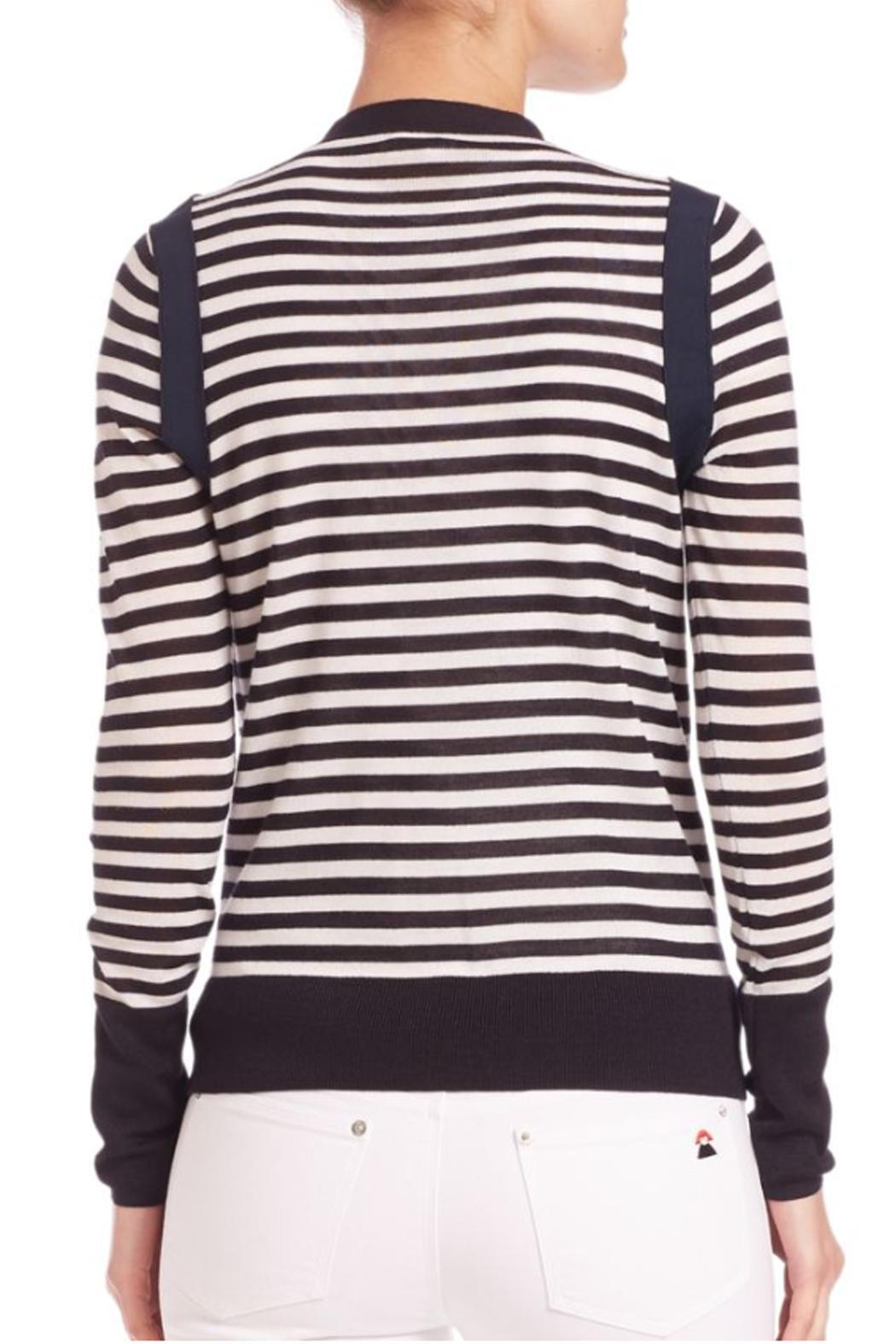 Sonia by Sonia Rykiel Striped Navy Cardigan - Side Cropped Image