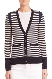 Sonia by Sonia Rykiel Striped Navy Cardigan - Front full body