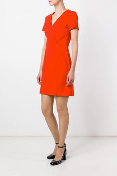 Sonia by Sonia Rykiel Wrap Red Dress - Product List Image