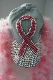 Sophia Breast-Cancer-Awareness Bling Hat - Product Mini Image