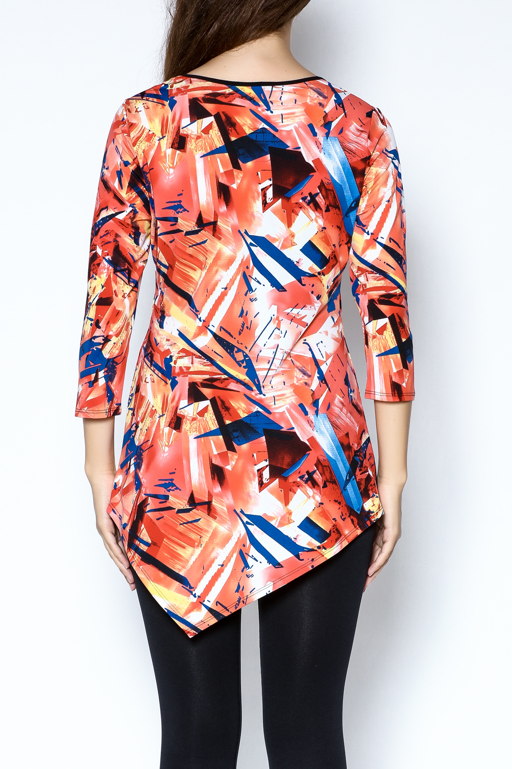 Sophie A Print Tunic Top - Back Cropped Image