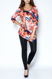 Sophie A Print Tunic Top - Front full body