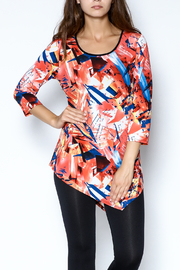 Sophie A Print Tunic Top - Front cropped