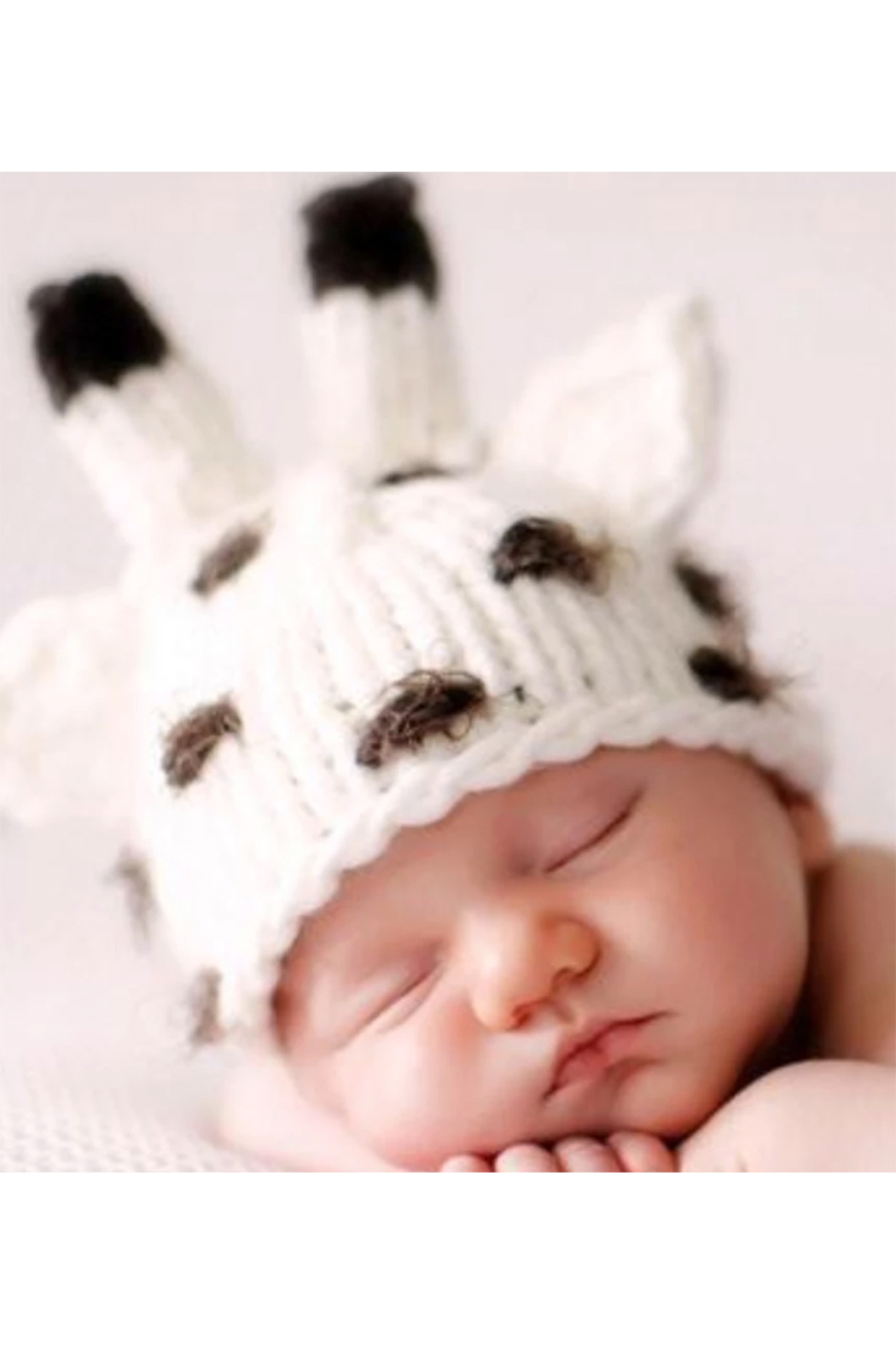 The Blueberry Hill Sophie Giraffe Knit Hat - Front Full Image