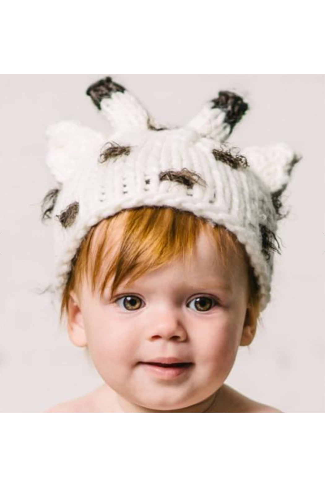 The Blueberry Hill Sophie Giraffe Knit Hat - Side Cropped Image
