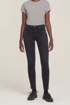 Shoptiques Product: Sophie Mid Rise Skinny Ankle in Dark Room