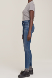 AGOLDE Sophie Mid Rise Skinny Ankle in Speedway - Front full body