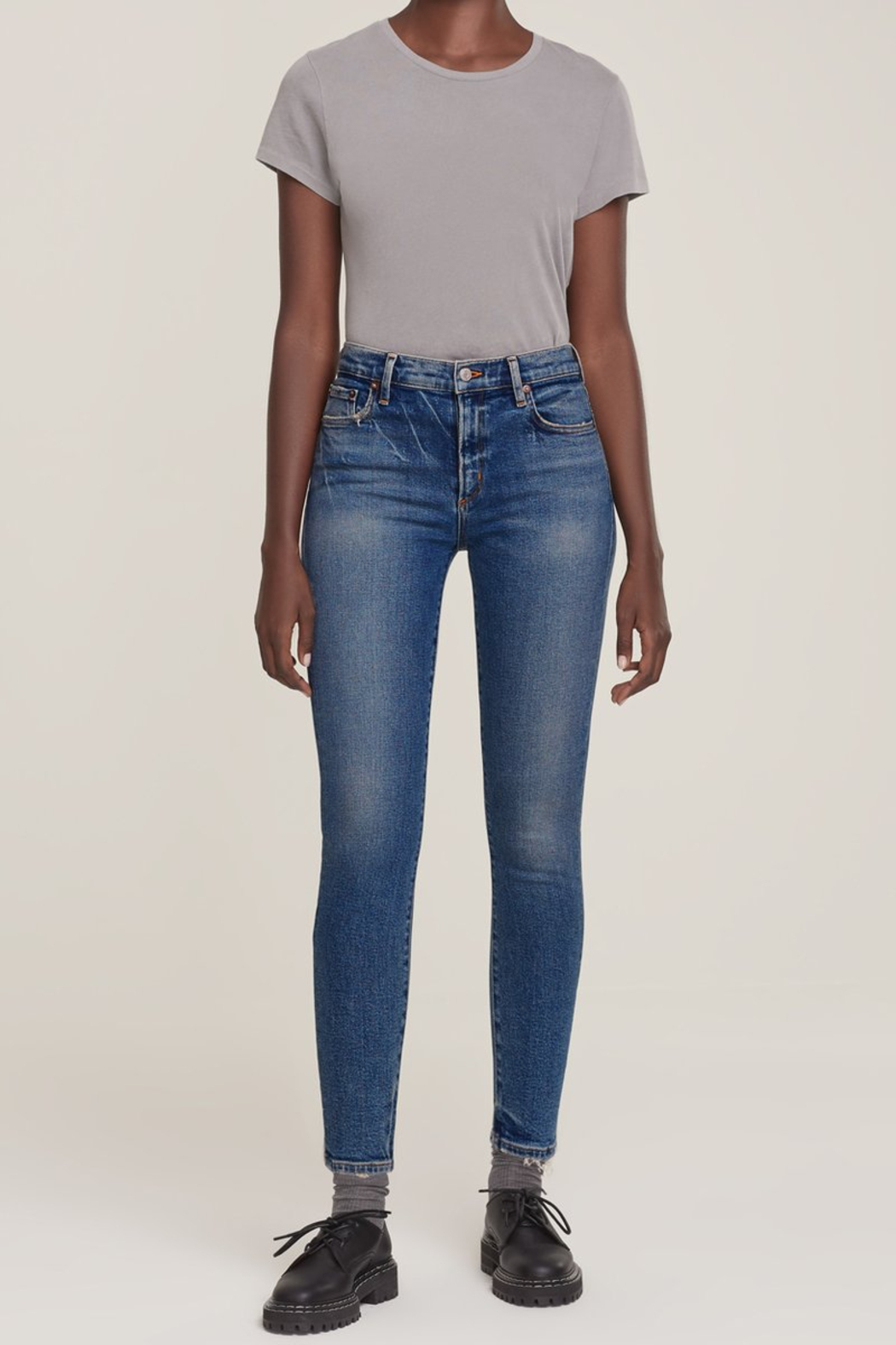 AGOLDE Sophie Mid Rise Skinny Ankle in Speedway - Main Image
