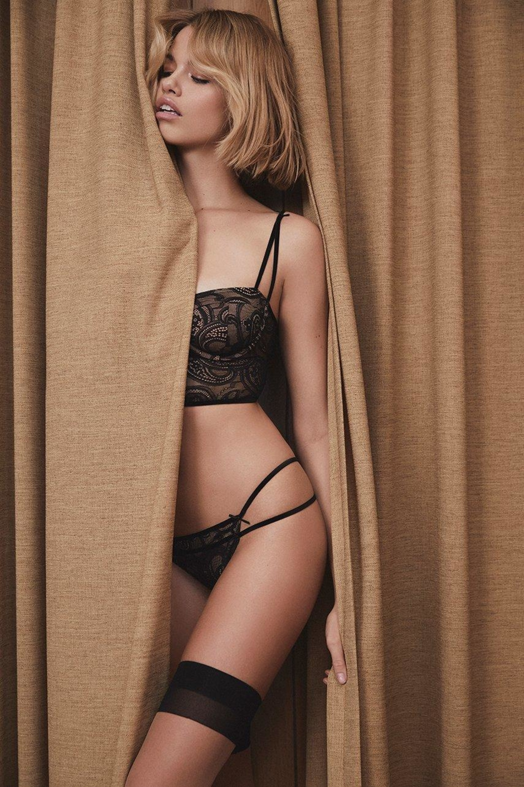 FOR LOVE & LEMONS Sophie Strappy Thong - Side Cropped Image