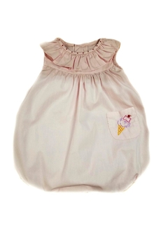 Sophie & Lucas Pink Embroidered-Ice-Cream-Cone Bubble - Product List Image
