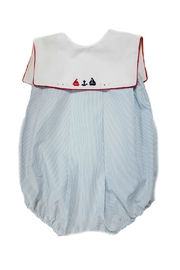 Sophie & Lucas Seaside-Sailboat Boys Bubble - Front cropped