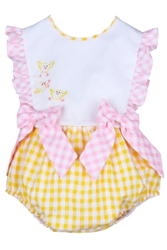 Sophie & Lucas Sunny-Chicks Pink-Yellow Gingham-Bubble - Product List Image