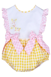 Sophie & Lucas Sunny-Chicks Pink-Yellow Gingham-Bubble - Front cropped