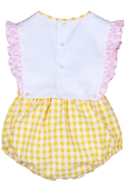 Sophie & Lucas Sunny-Chicks Pink-Yellow Gingham-Bubble - Front full body