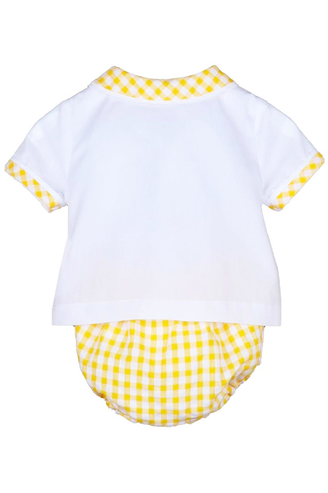 Sophie & Lucas Sunny-Chicks Yellow-Gingham Two-Piece-Set - Side Cropped Image