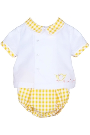 Sophie & Lucas Sunny-Chicks Yellow-Gingham Two-Piece-Set - Front full body