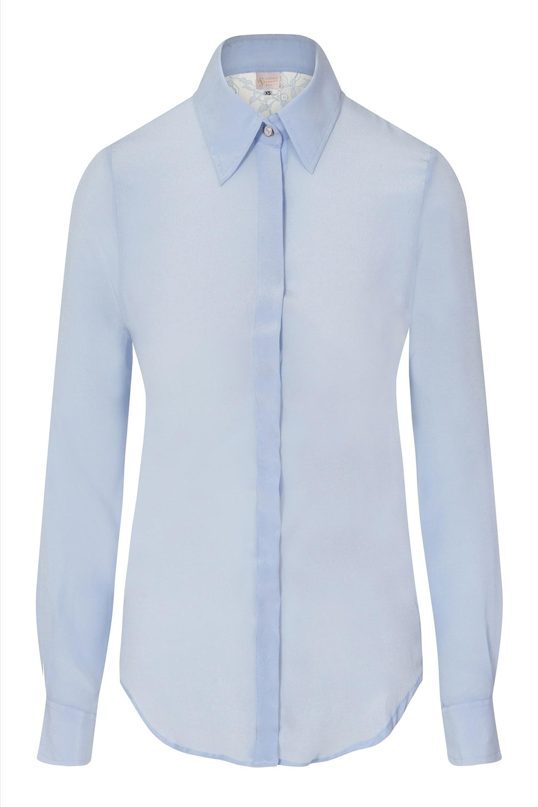 Sophie Cameron Davies Fitted Silk Shirt - Front Full Image
