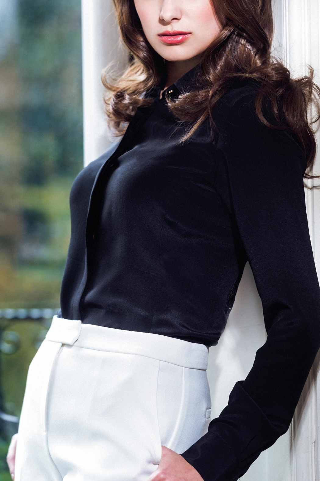 Sophie Cameron Davies Fitted Silk Shirt - Main Image