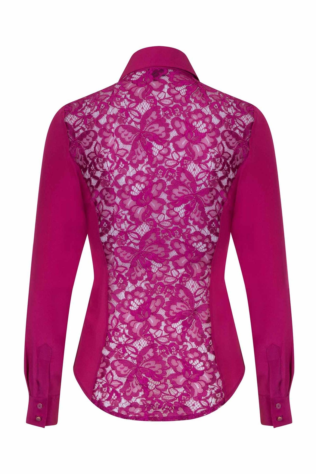 Sophie Cameron Davies Fitted Silk Shirt - Back Cropped Image