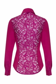 Sophie Cameron Davies Fitted Silk Shirt - Back cropped