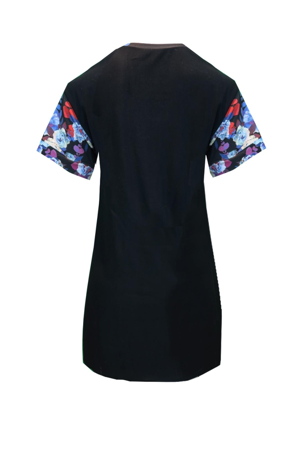 Sophie Cameron Davies Floral T-Shirt Dress - Back Cropped Image