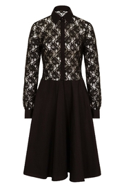 Sophie Cameron Davies Lace Midi Dress - Front full body