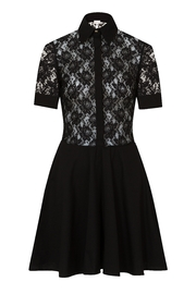 Sophie Cameron Davies Lace Mini Dress - Front full body