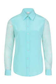 Sophie Cameron Davies Lace Silk Shirt - Back cropped