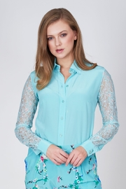 Sophie Cameron Davies Lace Silk Shirt - Front cropped