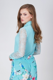 Sophie Cameron Davies Lace Silk Shirt - Side cropped