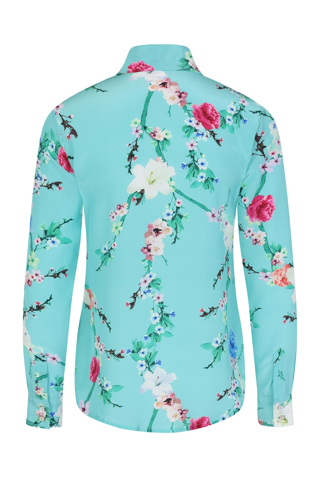 Sophie Cameron Davies Mint Silk Shirt - Back Cropped Image