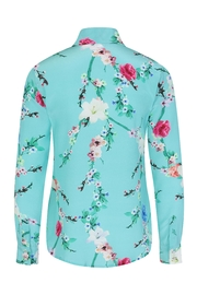 Sophie Cameron Davies Mint Silk Shirt - Back cropped