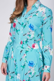Sophie Cameron Davies Mint Silk Shirt - Front full body