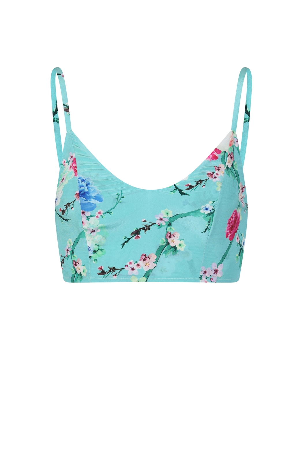 Sophie Cameron Davies Mint Silk Top - Side Cropped Image