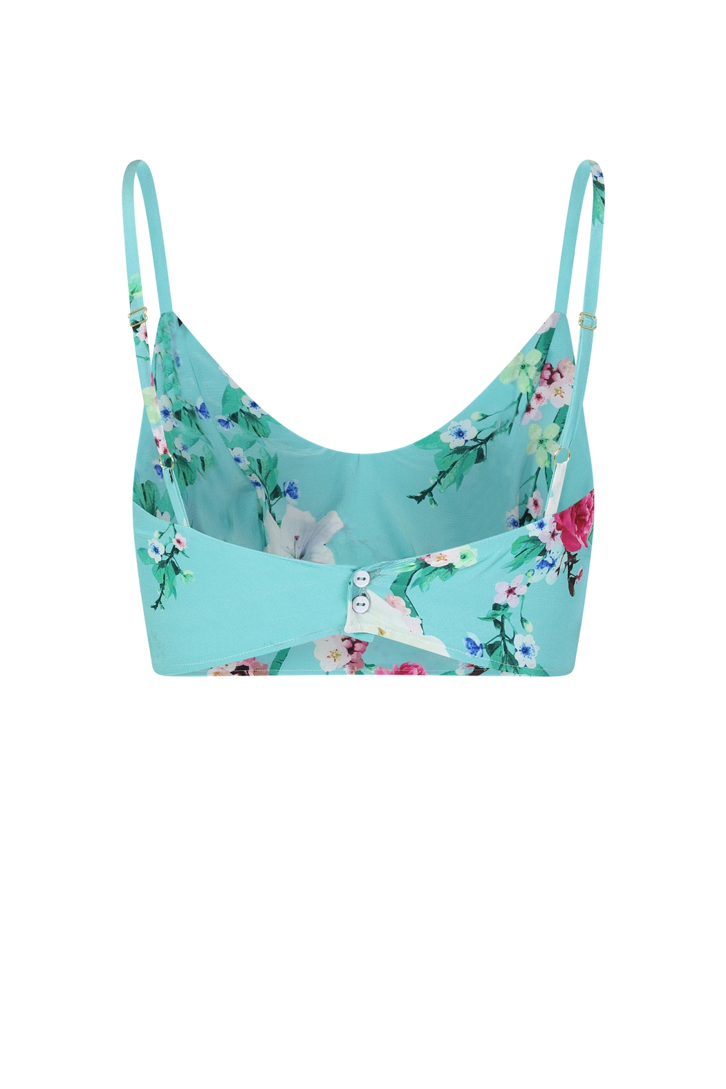Sophie Cameron Davies Mint Silk Top - Back Cropped Image
