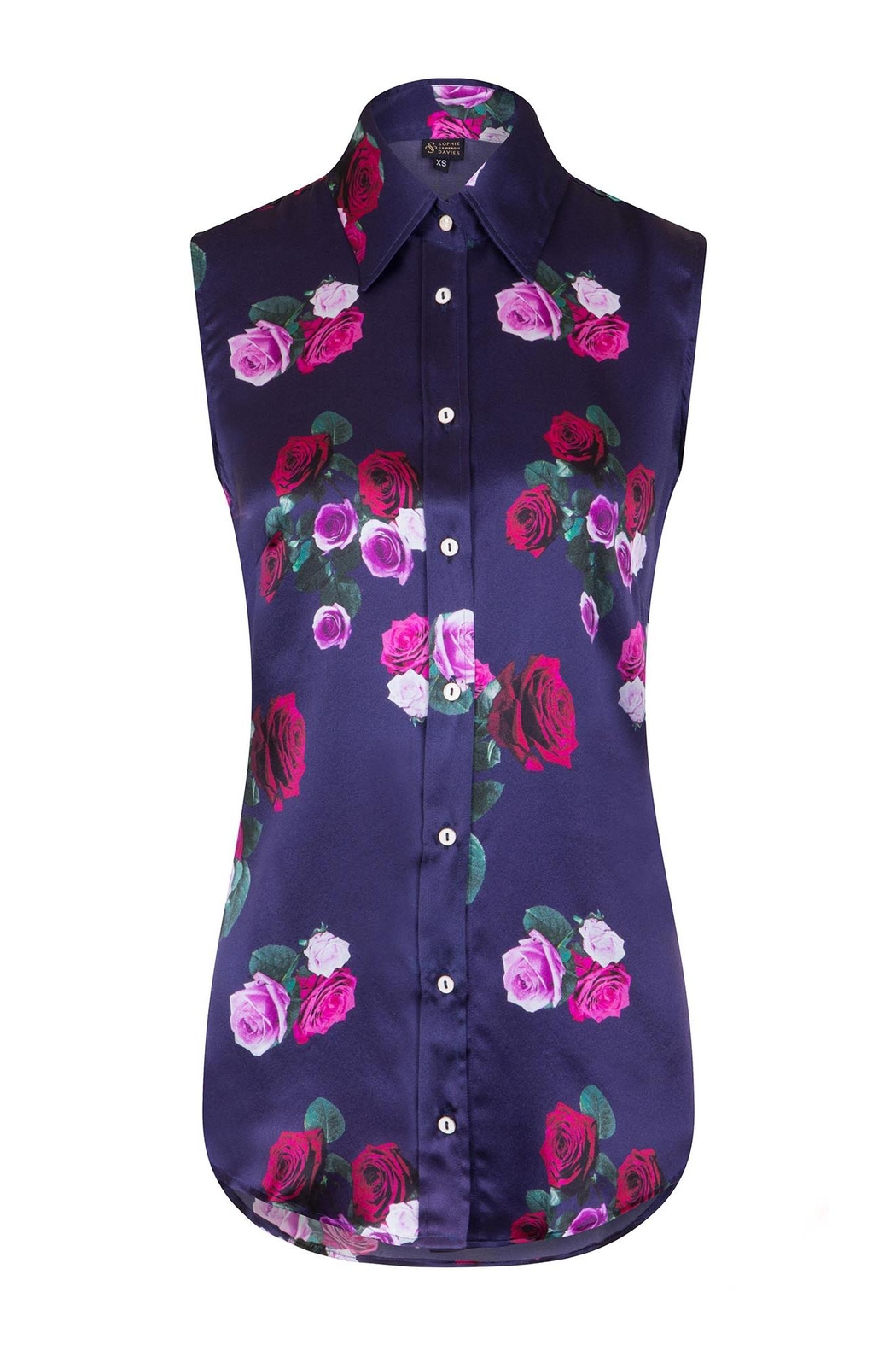Sophie Cameron Davies Rose Silk Top - Front Full Image