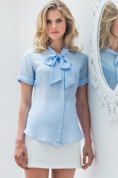 Sophie Cameron Davies Silk Bow Blouse - Product List Image