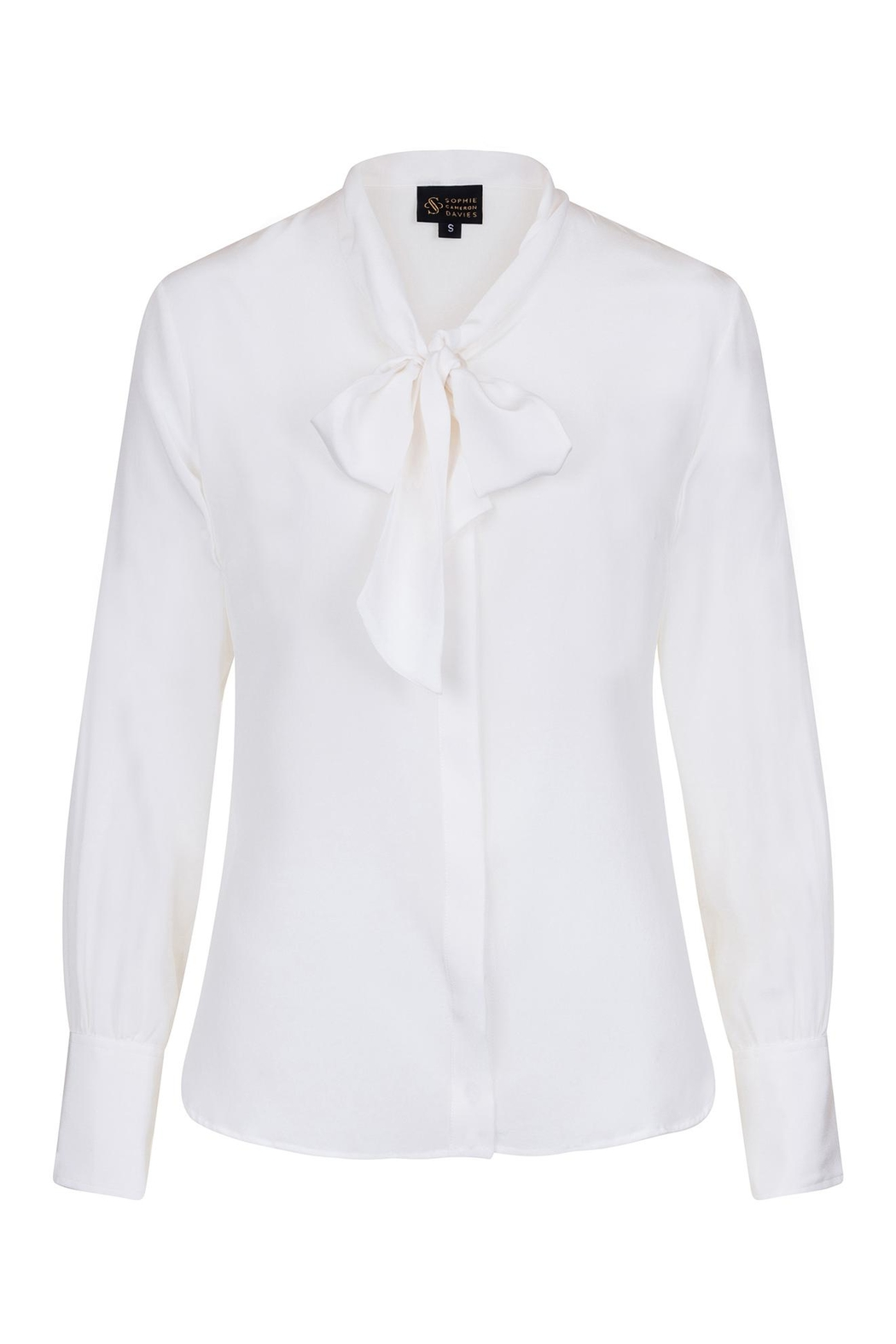 Sophie Cameron Davies Silk Bow Blouse - Front Full Image