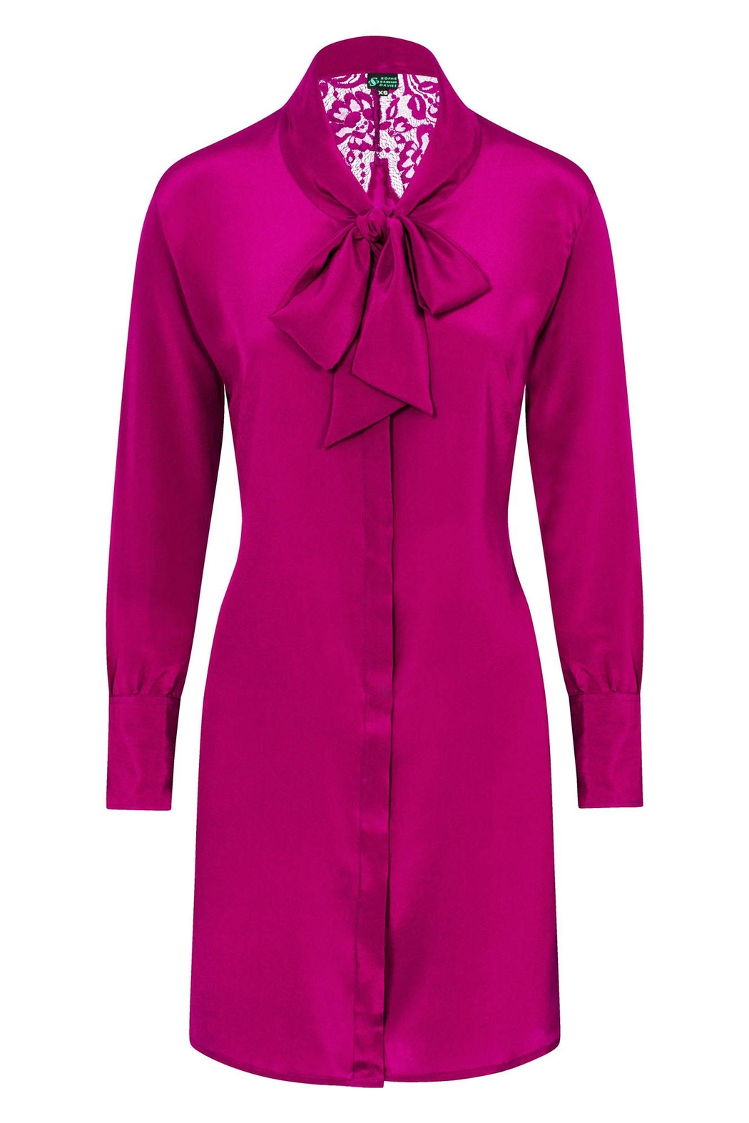 Sophie Cameron Davies Silk Bow Dress - Front Full Image