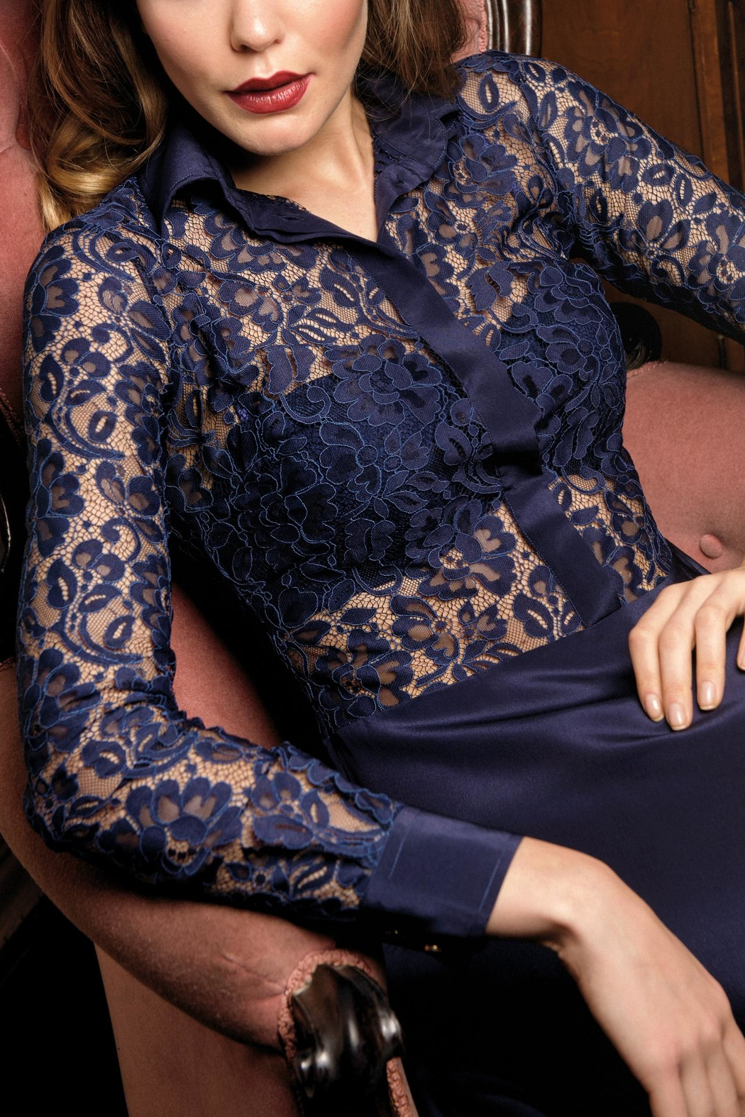 Sophie Cameron Davies Silk Lace Dress - Side Cropped Image