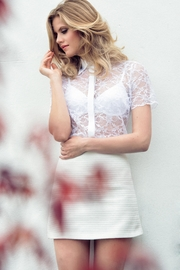 Sophie Cameron Davies White Lace Shirt - Product Mini Image