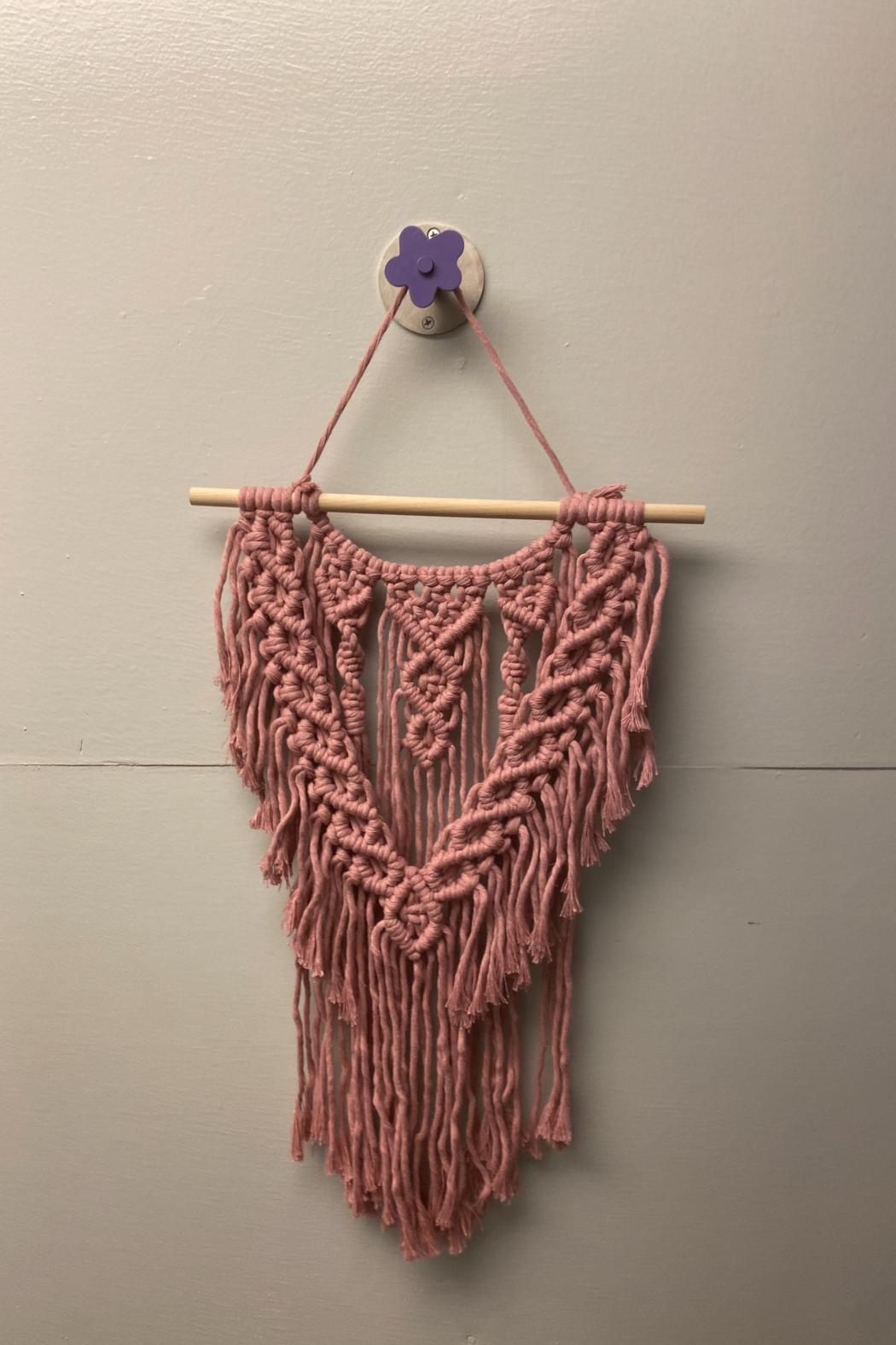 Creative Cords Sophisticated Mauve Macrame - Front Cropped Image