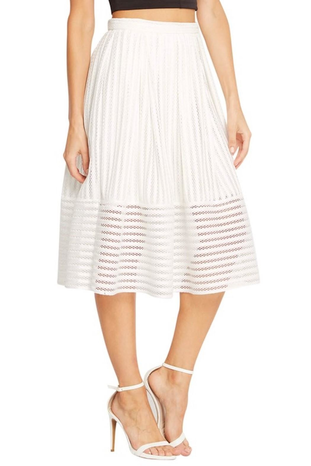 Soprano A-Line White Skirt - Side Cropped Image