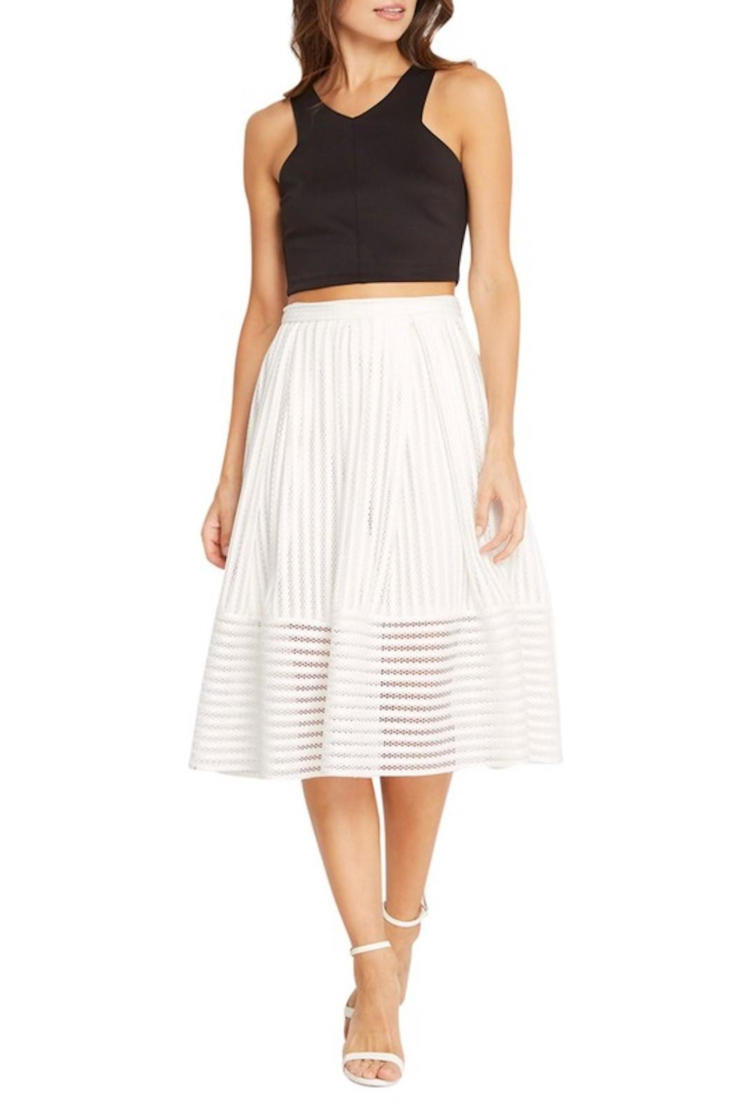 Soprano A-Line White Skirt - Front Cropped Image