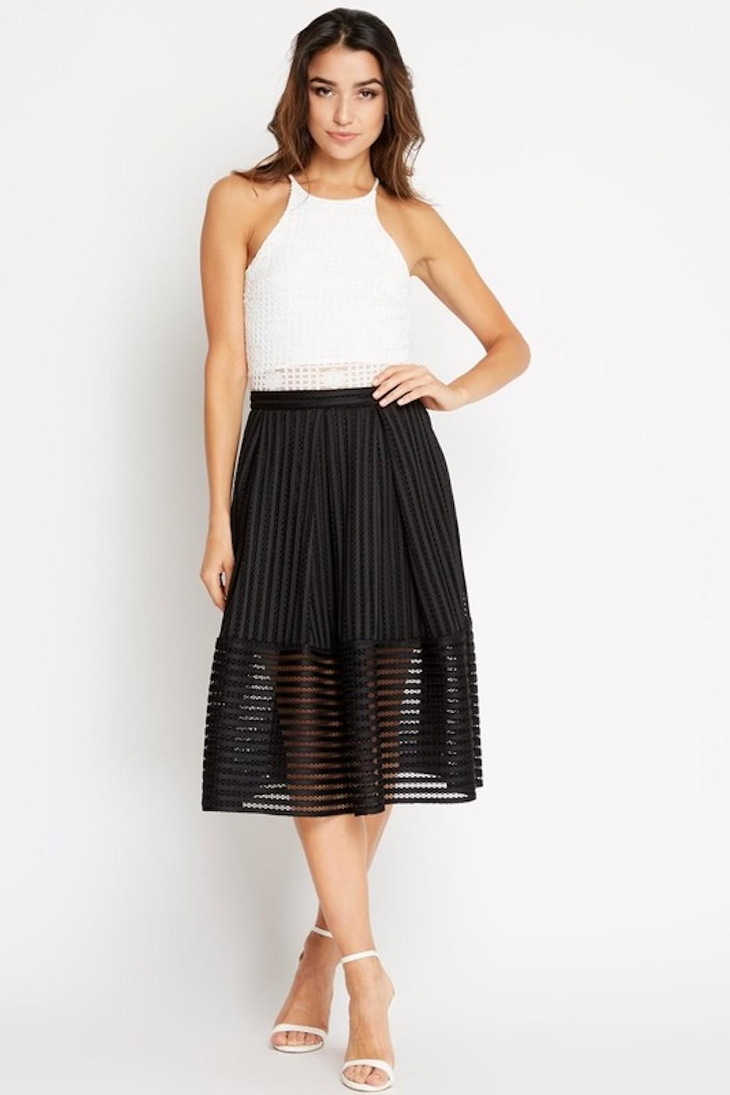 Soprano A-Line Black Skirt - Side Cropped Image