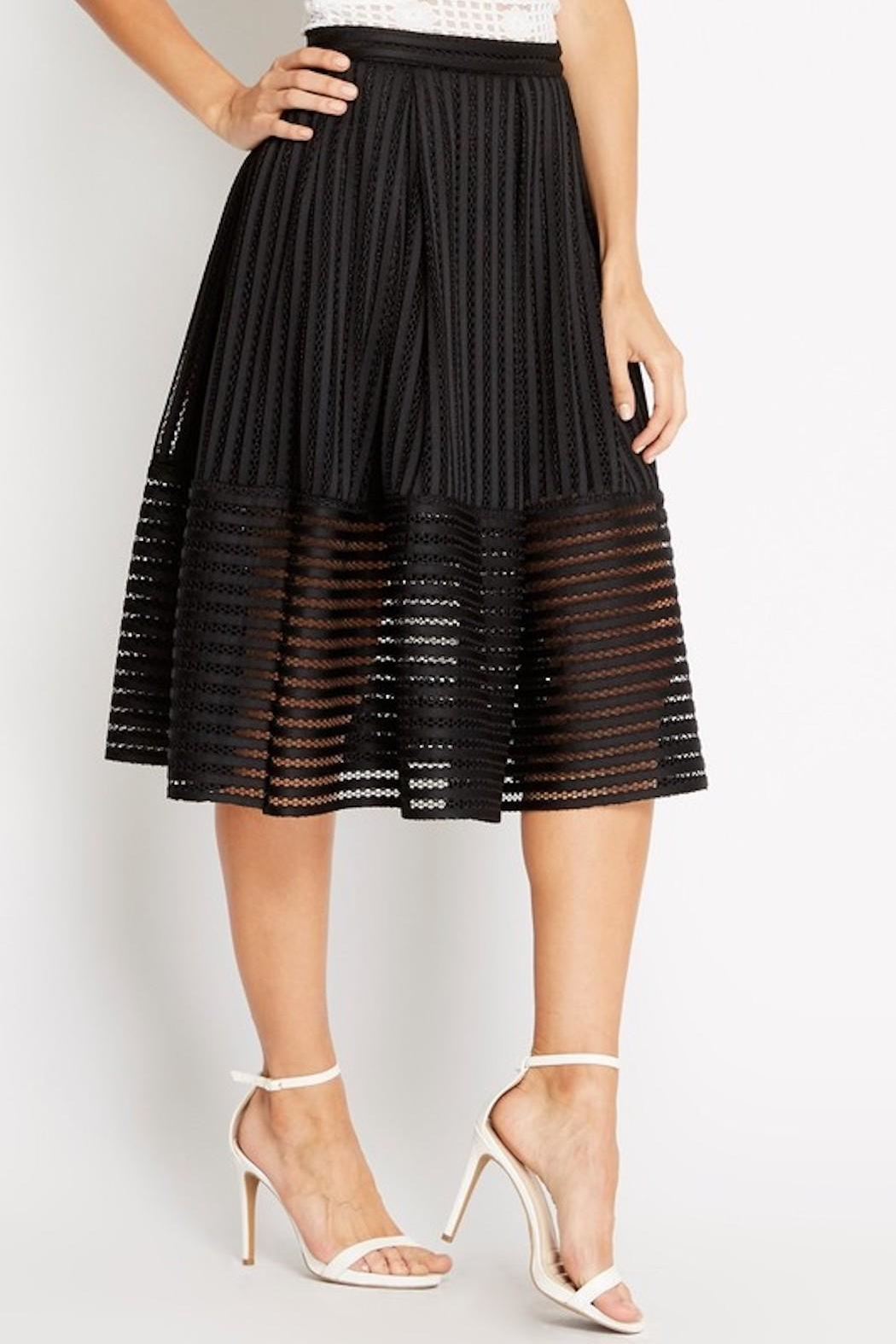Soprano A-Line Black Skirt - Front Cropped Image