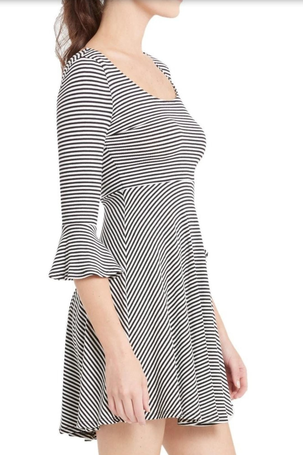 Soprano Bell Sleeve Dress - Side Cropped Image