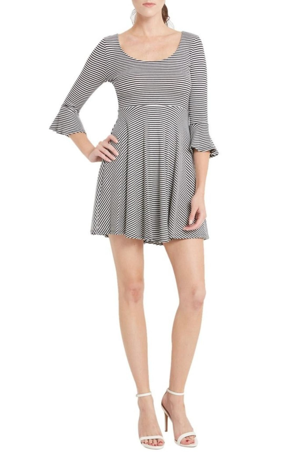 Soprano Bell Sleeve Dress - Front Cropped Image